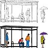 Vector clipart: Bus stop