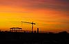 Фото 300 DPI: Башенный кран в закате