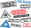 Set of security rubber stamps | Stock Illustration