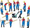 건설 노동자 | Stock Illustration
