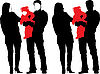 Silhouette of New happy family | Stock Illustration