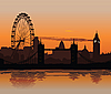 ID 3113913 | Londyn o zachodzie słońca | Stockowa ilustracja wysokiej rozdzielczości | KLIPARTO