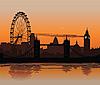 London at sunset | Stock Illustration