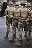 士兵在阅兵   免版税照片