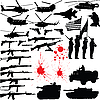 Vector clipart: Military silhouettes