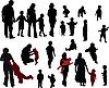 Photo 300 DPI: Family silhouettes