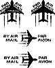 Vector clipart: Par Avion Rubber stamp 02