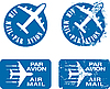Vector clipart: Par Avion Rubber stamps