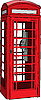 Vector clipart: British red phone booth