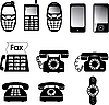 Vector clipart: Phones