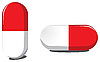 Vector clipart: Red and white pills