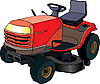 Vector clipart: Lawn mower tractor