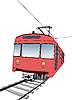 Vector clipart: Red subway or metro train