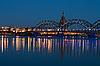 ID 3114238 | Railway bridge at night | High resolution stock photo | CLIPARTO