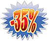 35 percent discount label