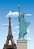 Vector clipart: Statue of Liberty in Paris