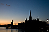 Silhouette of Stockholm | Stock Foto