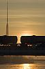 Photo 300 DPI: Freight wagons on bridge