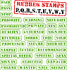 Photo 300 DPI: Rubber stamps collection PQ