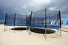 Foto 300 DPI: Trampoline in Strand