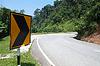 Photo 300 DPI: Sharp road curve sign
