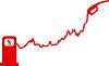 Photo 300 DPI: Gasoline price rise