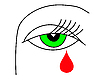 Vector clipart:  of the green eye of the witch