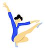 Vector clipart: gymnast girl
