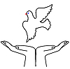 Vector clipart:  flying dove