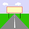 Vector clipart:  drawing of the billboard on road