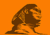 Vector clipart:  of the sphinx on orange