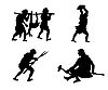 Vector clipart: primitive people
