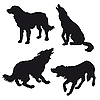 Vector clipart:  silhouette of the dog