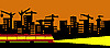 Vector clipart:  of the evening city