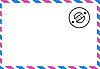 Vector clipart:  drawing of the old postal envelope