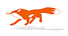 Vector clipart:  of the fox