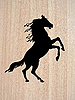 Vector clipart:  silhouette on wood