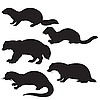 Vector clipart:  silhouettes animal