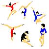 Векторный клипарт: фоне силуэт гимнастка