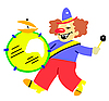 Vector clipart:  of the clown