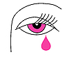 Vector clipart:  drawing of the eye of the woman