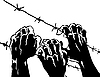Vector clipart:  silhouette of the barbed wire