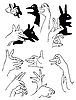 Vector clipart:  figures made hand