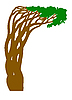 Vector clipart:  silhouette abstract tree