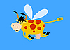 Vector clipart: flying cow