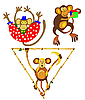 Vector clipart:  of the apes in circus