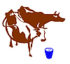 Vector clipart: silhouette of cow