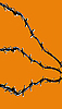 Vector clipart:  of the barbed wire on orange
