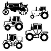 Vector clipart: tractor set