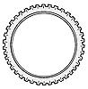 Vector clipart: silhouette cogwheel
